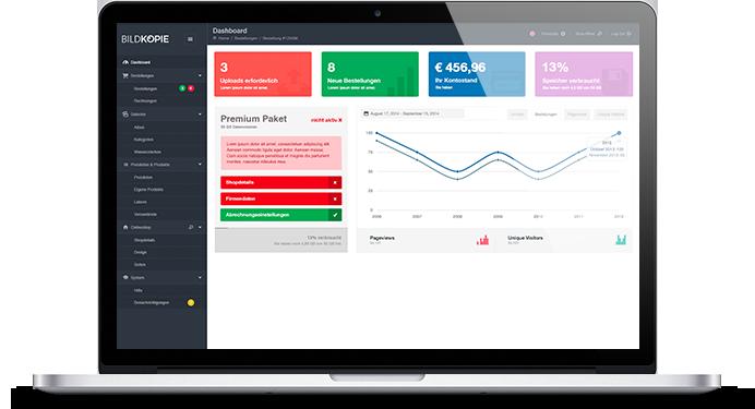 Bildkopie Demo Online Shop Laptop Admin