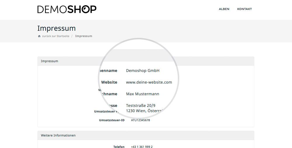 Eigene Website URL Wird Ab Sofort Auch Im Webshop Im Fußbereich (Footer) Von Rechnung, Zahlschein, Lieferschein Und Bestellschein Dargestellt.