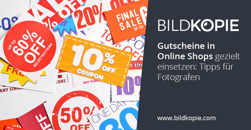 Gutscheine In Online Shops Gezielt Einsetzen: Tipps Für Fotografen