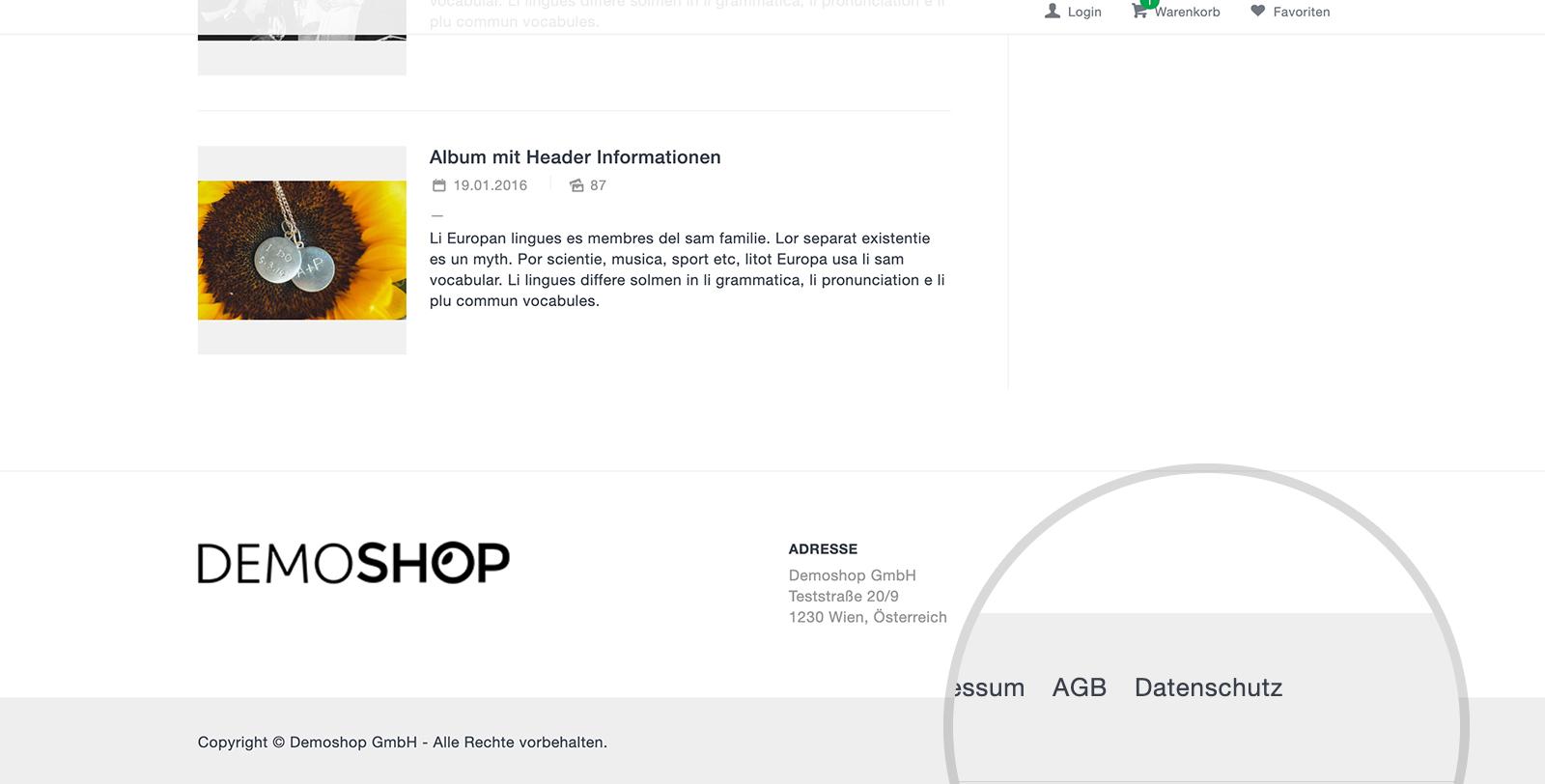 Datenschutz DSGVO: Webshop Wurde Durch Datenschutz Seite Ergänzt